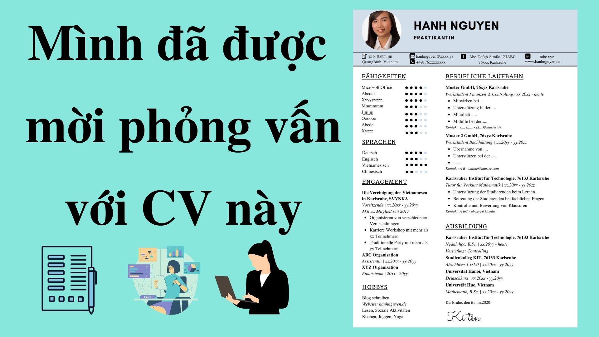 Mình đã được mời phỏng vấn với CV này